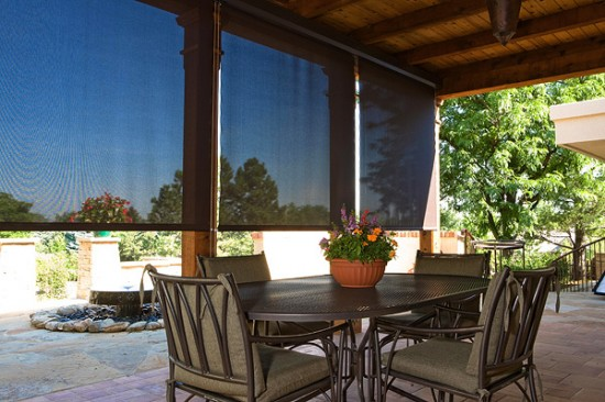 Shade your patio with a shade screen from Custom Canvas Unlimited